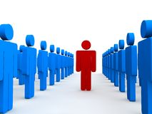 Stand out from the crowd Stock Image