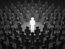 Stand Out From The Crowd. Standing Out From The Crowd stock illustration