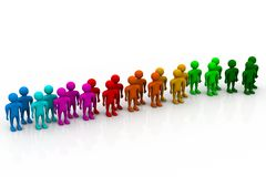 Stand Out From The Crowd. 3d illustration of Stand Out From The Crowd Royalty Free Stock Photo