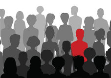 Stand out in a crowd Royalty Free Stock Images