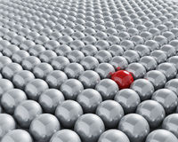Stand out from the crowd Stock Images
