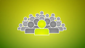 Stand out of crowd royalty free illustration