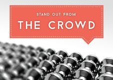 Stand out from the crowd business individuality Royalty Free Stock Photos