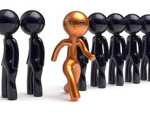Stand out from the crowd character different people icon. Stand out from the crowd character different individuality people unique man think differ person Royalty Free Stock Photo