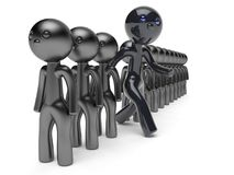 Stand out from the crowd character different people man black Stock Photography