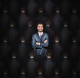 Stand out from the crowd. Concept Royalty Free Stock Photography