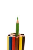 Stand out from the crowd concept. 'Stand out from the crowd' concept with pencils Stock Images