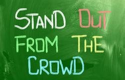 Stand Out From The Crowd Concept Stock Photo