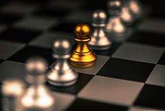 Stand out of a crowd concept Odd Chess Piece Stock Photography