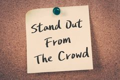 Stand Out From The Crowd Stock Photography