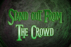 Stand Out From The Crowd Concept Royalty Free Stock Photos
