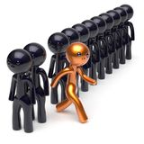 Stand out from the crowd different people individuality concept Royalty Free Stock Image