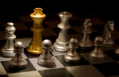 Stand out of a crowd individuality concept Odd Chess. Piece Royalty Free Stock Image