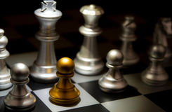 Stand out of a crowd individuality concept Odd Chess Stock Photography