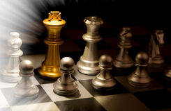 Stand out of a crowd individuality concept Odd Chess Royalty Free Stock Photos