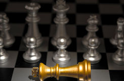 Stand out of a crowd individuality concept Odd Chess Stock Images