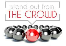 Stand out from the crowd unique concept. Stand out from the crowd business unique concept Stock Photo