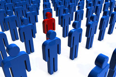 Stand Out From The Crowd Royalty Free Stock Photography