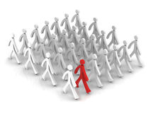 Stand Out From The Crowd on white background Royalty Free Stock Photo