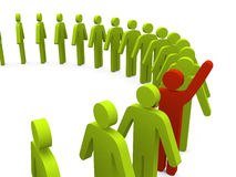 Free Stand Out From The Crowd Royalty Free Stock Photo - 25897875