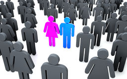 Stand Out - individuality Stock Photography