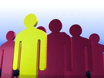Stand out leader Royalty Free Stock Photos