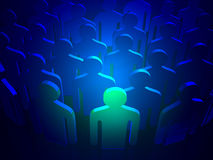 Stand out leader Stock Photography