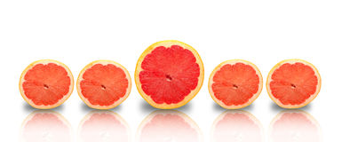 Stand out loud concept using grapefruits Royalty Free Stock Photos