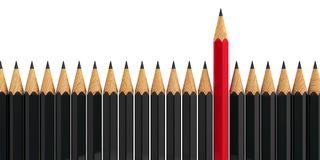 Stand out - pencils  4 Stock Photo