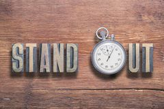 Stand out watch wooden Royalty Free Stock Images