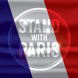 Stand With Paris Abstract Background. Stand With Paris Abstract Background Vector Illustration Stock Image