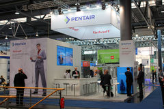 The stand of Pentair on March 20, 2015 Stock Images