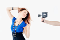 Stand in pose Royalty Free Stock Photography