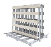Stand rack storage Stock Photos