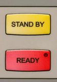 Stand by-ready buttons Stock Photo
