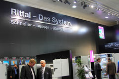 Stand of the Rittal in CEBIT computer expo Royalty Free Stock Photos
