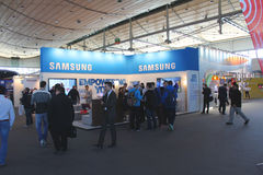 Stand of Samsung Stock Photography