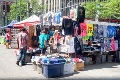 Stand selling T-Shirts with New York symbol in New York City Royalty Free Stock Photos