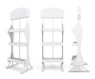 Stand with shelves from different angles. 3d illustrationon white background royalty free illustration