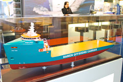 Stand shipbuilding company Damen. At the exhibition Offshore Energy 2012. Netherlands Stock Images