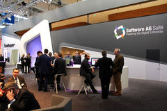 The stand of Software AG Stock Images