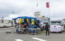Stand of Souvenirs - Tour de France 2014 Royalty Free Stock Photography