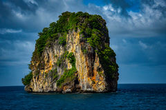 Isolated and Stand Still Rocky Mountain PHI PHI Island Phuket. And Stand Still Rocky Mountain On The Way To PHI PHI Island Phuket Royalty Free Stock Image