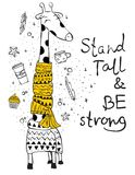 Stand tall and be strong Stock Image