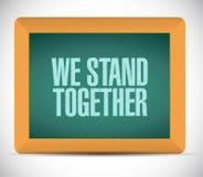 we stand together chalkboard illustration Stock Photos