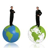 Stand On Top Globe Stock Photos