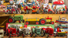 Stand of toys in strasbourg Stock Photography