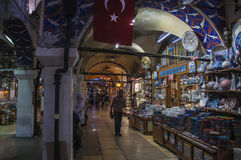Stand of turkish merchandise Royalty Free Stock Photos