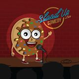 Stand up comedy donut open mic. Vector Royalty Free Stock Photo