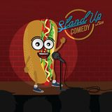 Stand up comedy hot dog open mic. Vector Royalty Free Stock Photos
